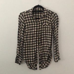 Lucky Brand Black and White Flannel